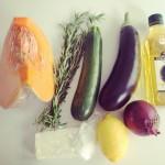 Gemüseratatouille mit Fetadip.