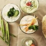 Gemüsesticks mit Dip treffen auf Sommerrollen im Winter.